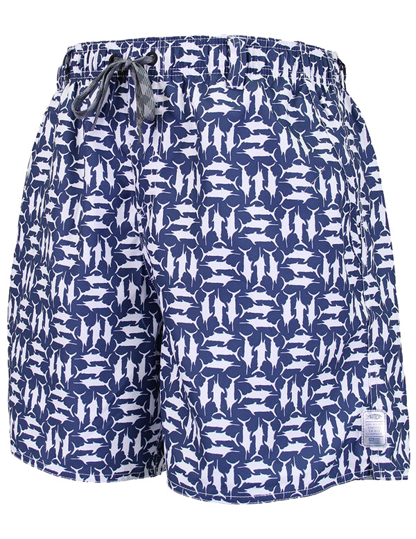 Tick Tack Swim Trunks in Midnight by AFTCO