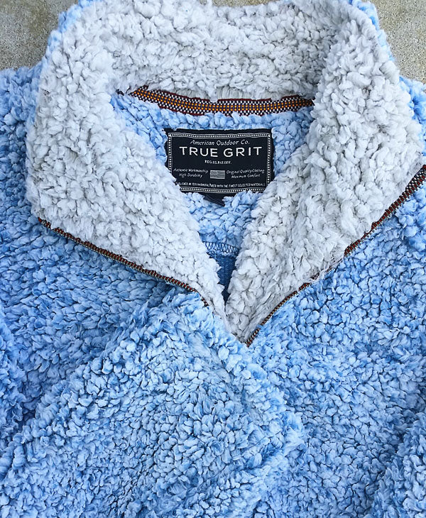 Frosty Tipped Pile 1/2 Zip Pullover by True Grit