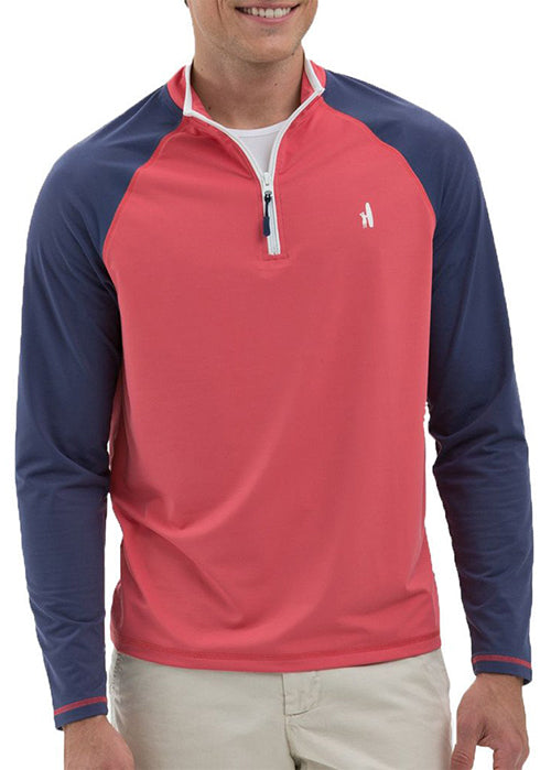 Veezy Prep-Formance 1/4 Zip Pullover in Samba Red by Johnnie-O