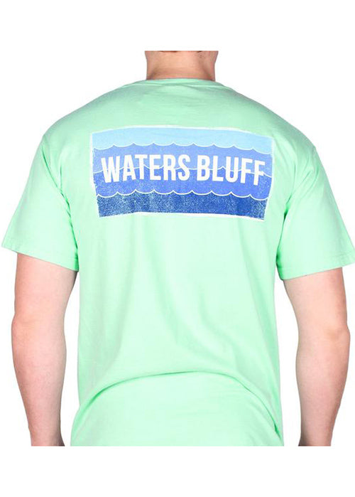Wave Pocket Tee Shirt in Island Reef Green by Waters Bluff Clothing Co.