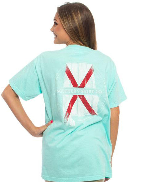 alabama wooden state tee southern shirt co