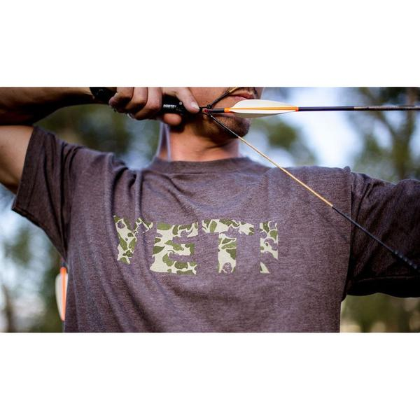 Camo Logo Tee in Vintage Brown by YETI