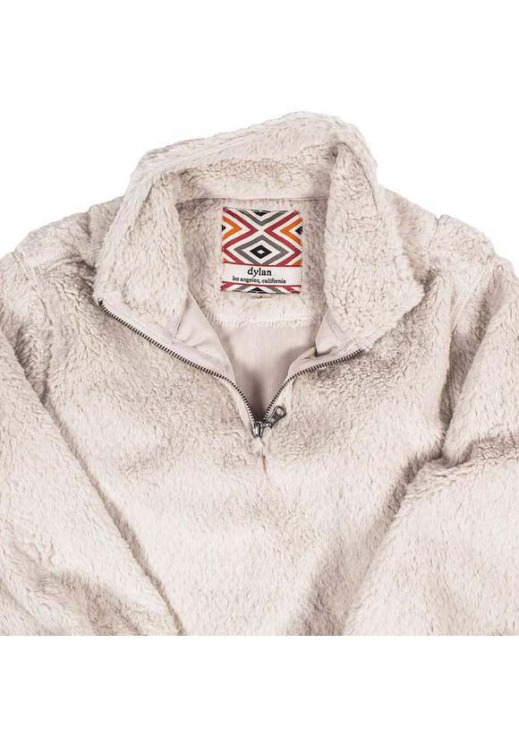 YOUTH Pebble Pile Pullover 1/2 Zip in Winter White by True Grit