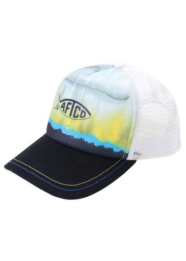 Yellowfin Trucker Hat in Navy by AFTCO