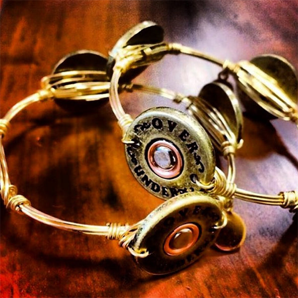 bourbon and boweties shotgun shell bangle