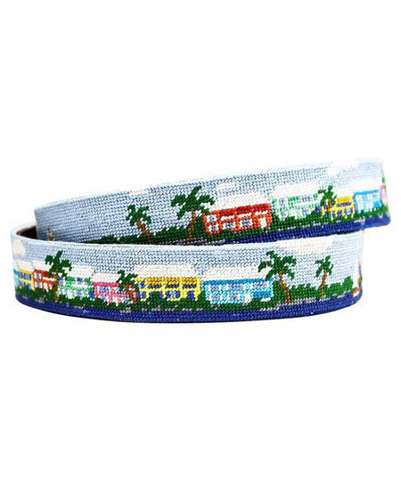 smathers and branson bluefish and striper needlepoint belt