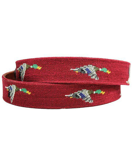 smathers and branson mallard needlepoint belt