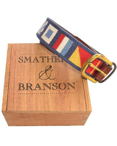 smathers and branson dark n' stormy needlepoint belt