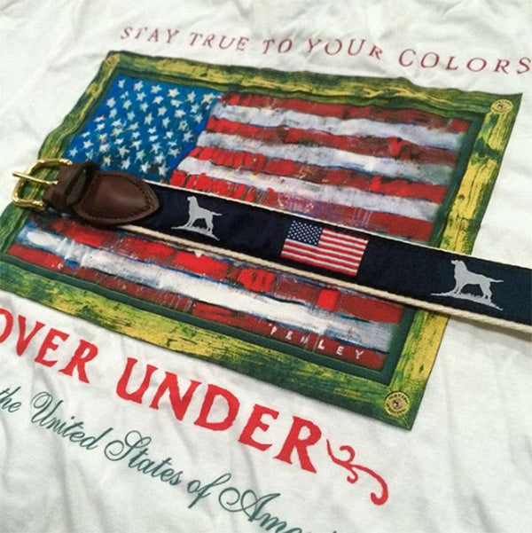 over under patriotic ribbon belt