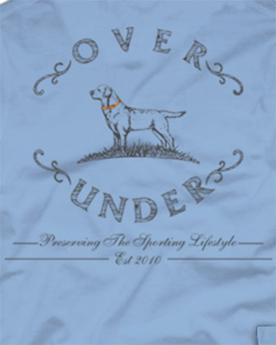 over under sketched logo long sleeve tee