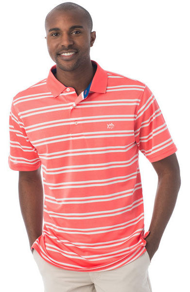Roster Stripe Performance Polo by Southern Tide