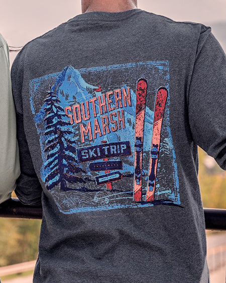 southern marsh long sleeve ski trip tee
