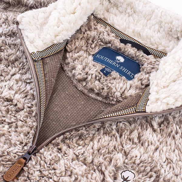 southern shirt co heather sherpa pullover with pockets