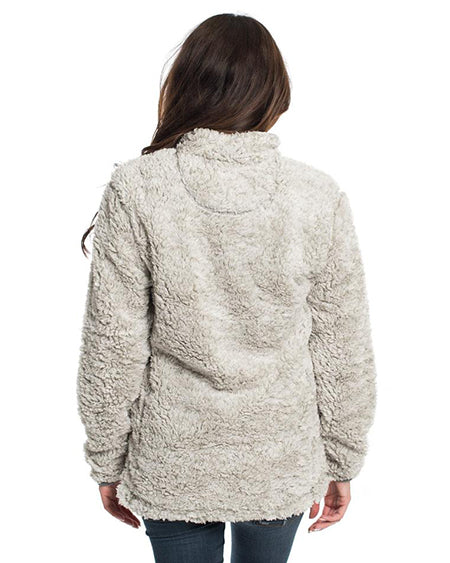 southern shirt co heahter sherpa pullover with pockets