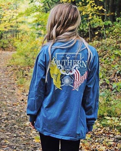 southern shirt co american pride long sleeve