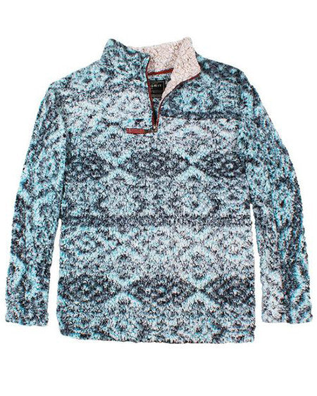 true grit frosty tipped tribal pullover