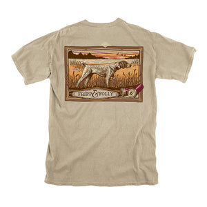 Pointer Tee in Khaki by Fripp & Folly - Country Club Prep