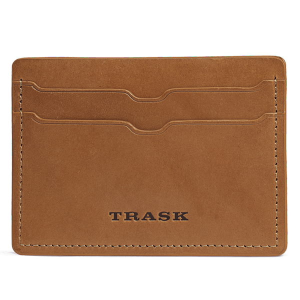 Billings Weekender Credit Card Wallet in Tan Steer