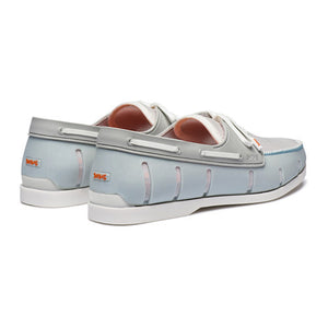 Water- Resistant Boat Loafer in Ice and White by SWIMS  - 2