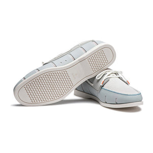 Water- Resistant Boat Loafer in Ice and White by SWIMS  - 3