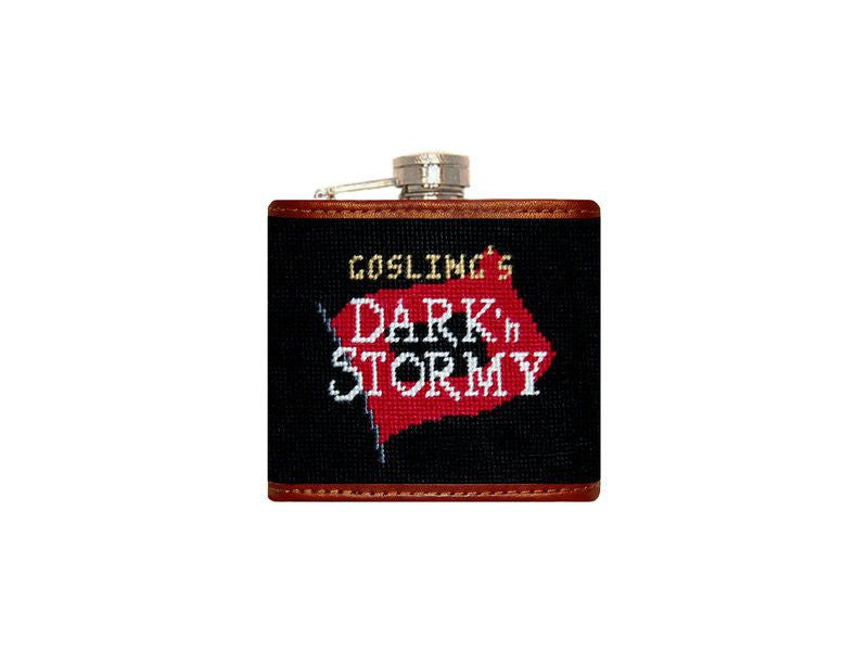 Goslings Needlepoint Flask in Black