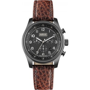 Men's Byker Chronograph Watch in Brown Leather