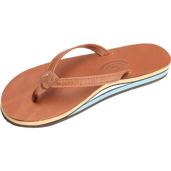 Women's Thin Strap Double Layer Classic Leather Sandal