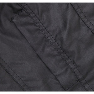 The Squire Waxed Jacket in Black