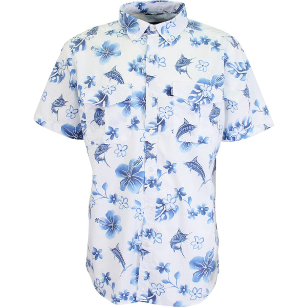 AFTCO Boatbar Short Sleeve Tech Shirt in Blue