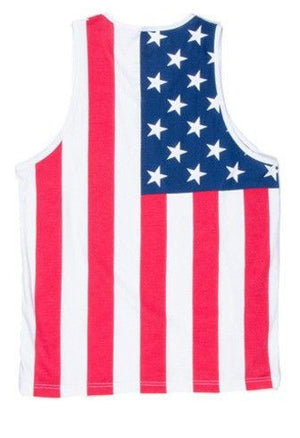 American Flag Tank Top in Red, White and Blue
