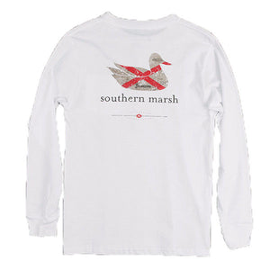 Authentic Alabama Heritage Long Sleeve Tee in White
