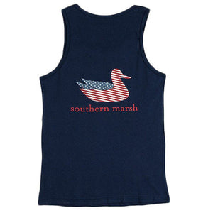 Authentic Flag Tank in Navy by Southern Marsh  - 1