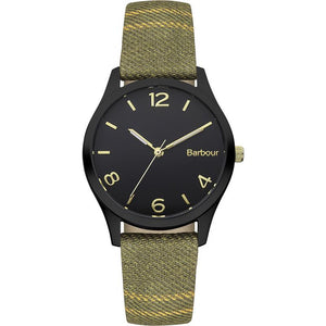 Women's Afton Watch in Green Fabric