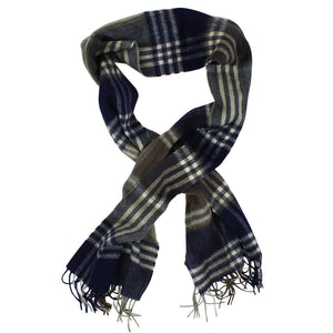 Kindar Check Scarf in Olive and Navy