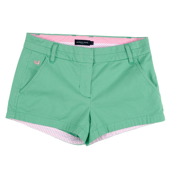 The Brighton Chino Short in Bimini Green by Southern Marsh  - 1