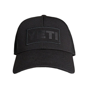 Black On Black Patch Trucker Hat in Black   - 1