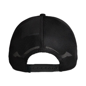 Black On Black Patch Trucker Hat in Black   - 3