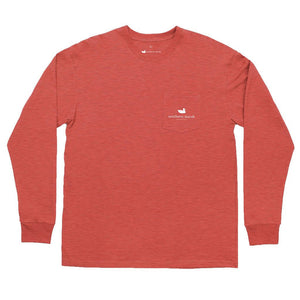 Branded - Hunting Dog Long Sleeve Tee in Washed Red by Southern Marsh  - 2