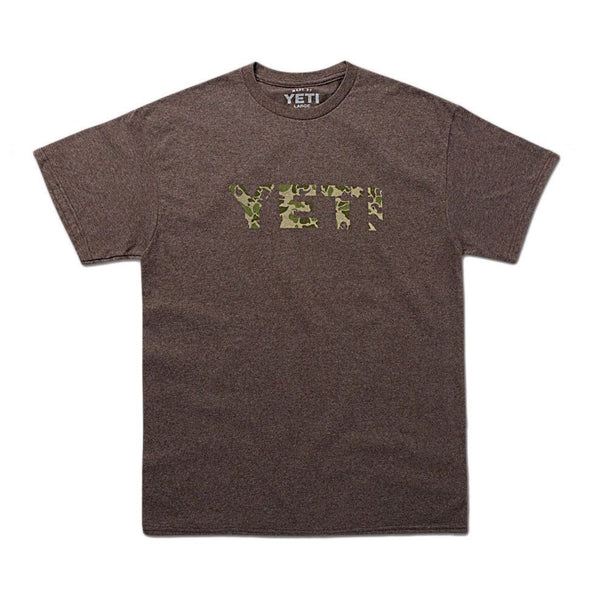 Camo Logo Tee in Vintage Brown   - 1