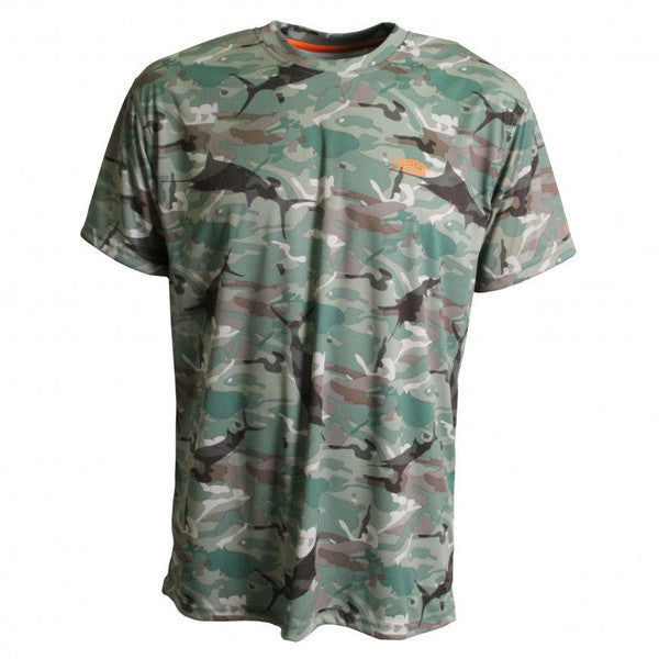 Caster Tee Sun Shirt in Blue Camo