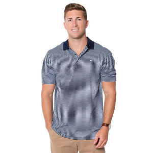 Churchill Performance Polo in Brunnera Blue by The Southern Shirt Co.  - 1