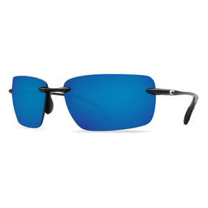Gulf Shore Sunglasses in Shiny Black with Blue Mirror 580P Lenses by Costa Del Mar