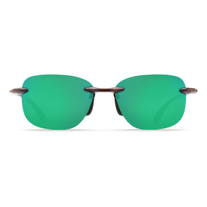 Costa Del Mar Seagrove Sunglasses in Shiny Tortoise with Green Mirror 580P Lenses