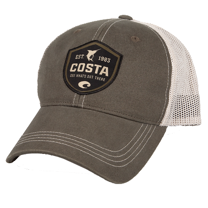 45a826ec493 Costa Del Mar Shield Trucker Hat in Moss   Stone - Tide and Peak ...