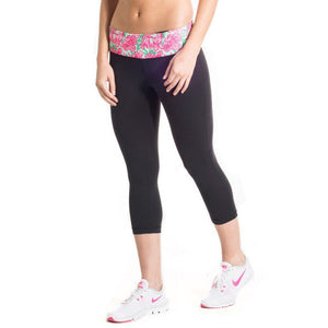Cropped Run Runner Leggings in Let it Bloom by Krass & Co.  - 1