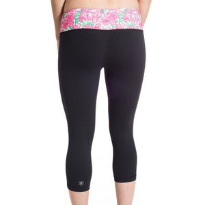 Cropped Run Runner Leggings in Let it Bloom by Krass & Co.  - 3