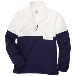 Dock Pullover in Ivory and Navy
