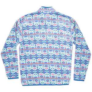 Dorado Fleece Pullover in Teal & Pink by Southern Marsh