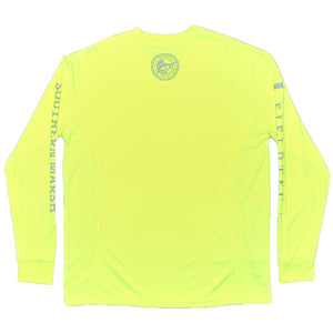 FieldTec Fishing Tee - Long Sleeve in Neon Yellow by Southern Marsh  - 2
