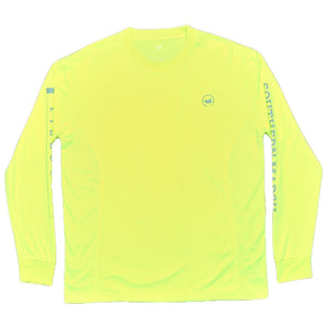 FieldTec Fishing Tee - Long Sleeve in Neon Yellow by Southern Marsh  - 1